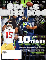 Richard Sherman Autographed Sports Illustrated Magazine Seattle Seahawks The Tip No Label RS Holo
