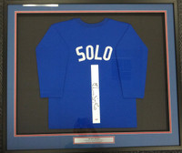 Hope Solo Autographed Framed Blue Jersey Team USA PSA/DNA