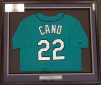 Robinson Cano Autographed Framed Teal Majestic Jersey Seattle Mariners PSA/DNA ITP