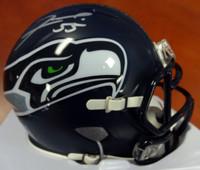 Frank Clark Autographed Seattle Seahawks Speed Mini Helmet Signed In Silver MCS Holo Stock #94289