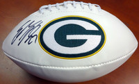 Eddie Lacy Autographed Green Bay Packers Logo Football PSA/DNA