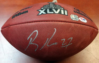 Ray Rice Autographed NFL Leather SB XLVII Football PSA/DNA