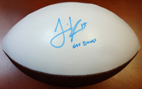 "Jermaine Kearse Autographed Washington Huskies Logo Football ""Go Dawgs"" MCS Holo"