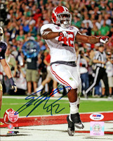 Eddie Lacy Autographed 8x10 Photo Alabama Crimson Tide In Blue PSA/DNA