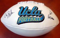 "Gary Beban Autographed White Logo Football UCLA Bruins ""67 Heisman"" PSA/DNA"