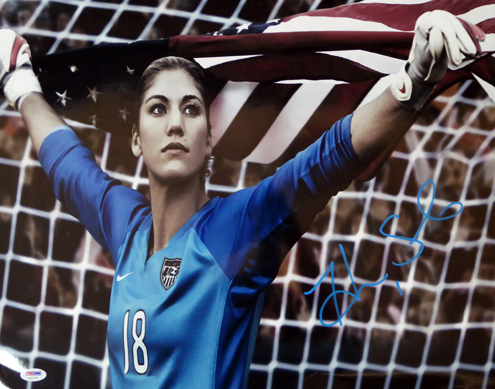 Hope Solo Autographed 16x20 Photo Team USA PSA/DNA