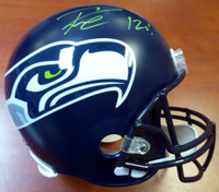 "Russell Wilson Autographed Seattle Seahawks Full Size Helmet ""12s"" In Green RW Holo"