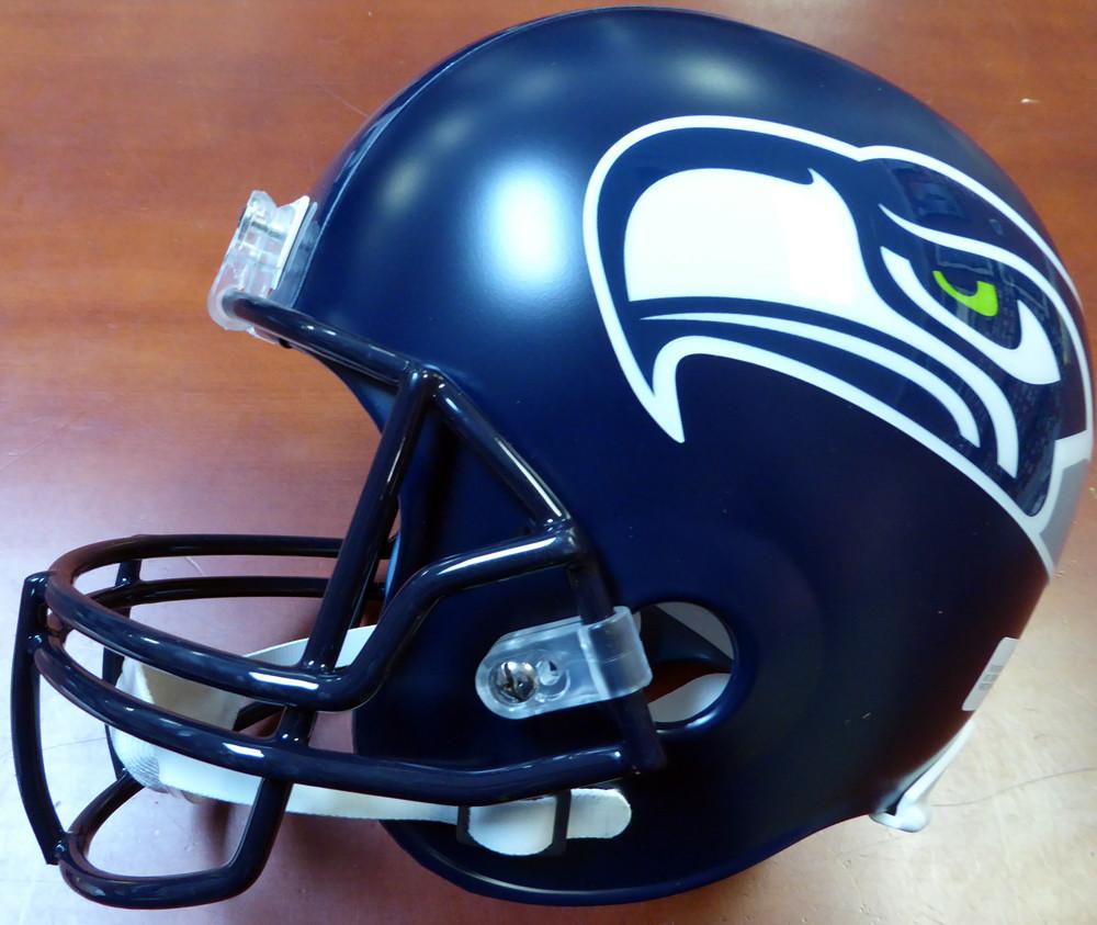 "Russell Wilson Autographed Seattle Seahawks Full Size Helmet ""12s"" In Green RW Holo"