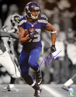 Doug Baldwin Autographed 16x20 Photo Seattle Seahawks In Blue MCS Hologram