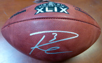 Russell Wilson Autographed Super Bowl XLIX Leather Football Seattle Seahawks RW Holo