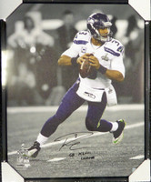 "Russell Wilson Autographed Framed 24x30 Canvas Photo Seattle Seahawks ""SB XLVIII Champs"" Super Bowl RW Holo"