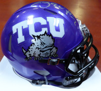 Trevone Boykin Autographed TCU Horned Frogs Speed Mini Helmet MCS Holo