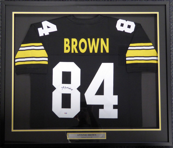 Pittsburgh Steelers Antonio Brown Autographed Framed Black Jersey PSA/DNA