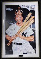 "Mickey Mantle Autographed Framed 28x41 Poster Photo ""1956"" PSA/DNA #K43076"