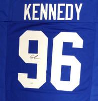 Seattle Seahawks Cortez Kennedy Autographed BlueJersey MCS Holo