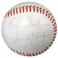 """Sandy Koufax Autographed NL Baseball Los Angeles Dodgers """"Best Wishes"""" Vintage Playing Days Signature PSA/DNA #V02561"""