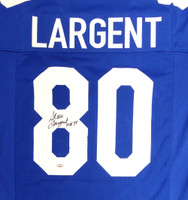 "Seattle Seahawks Steve Largent Autographed Blue Jersey ""HOF 95"" MCS Holo"