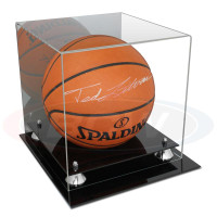 BCW ACRYLIC BASKETBALL DISPLAY WITH SILVER RISERS