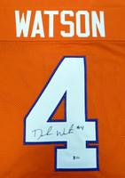 DeShaun Watson Autographed Clemson Tigers Orange Cusom Jersey - Beckett COA
