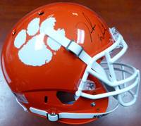 DeShaun Watson Autographed Clemson Tigers Orange Authentic National Champs Sticker Full Size Helmet BAS