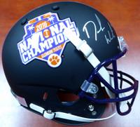 DeShaun Watson Autographed Clemson Tigers Black Schutt National Champs Logo Full Size Helmet Beckett BAS