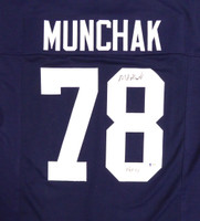 Penn State Nittany Lions Mike Munchak Autographed Blue Jersey - Beckett COA