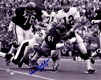 Dick Butkus Signed Chicago Bears Fumble Recovery vs Steelers B&W 8x10 Photo w/HOF 79