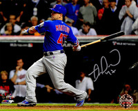 Miguel Montero Signed Chicago Cubs 2016 World Series Batting Action 8x10 Photo