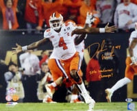 "DeShaun Watson Autographed 16x20 Photo Clemson Tigers ""2016 National Champs!"" - Beckett COA"