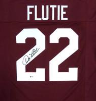 Boston College Eagles Doug Flutie Autographed Red Jersey Beckett BAS