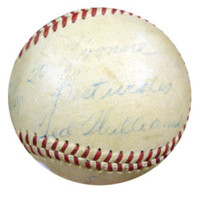 """Ted Williams Autographed AL Harridge Baseball Boston Red Sox """"To Yvonne, Best Wishes"""" 1950's Vintage Signature PSA/DNA #K39921"""