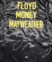 Floyd Mayweather Jr. Autographed Black Boxing Robe Beckett BAS