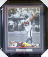 J.J. Watt Autographed Framed 16x20 Photo Houston Texans PSA/DNA