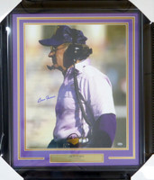 Don James Autographed Framed 16x20 Photo Washington Huskies MCS Holo Stock #123751