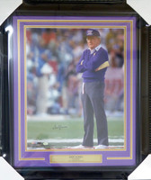 Don James Autographed Framed 16x20 Photo Washington Huskies MCS Holo Stock #123750