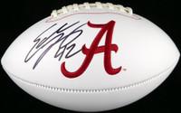 Eddie Lacy Autographed White Logo Football Alabama Crimson Tide MCS Holo