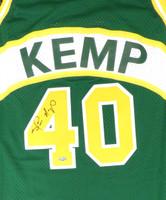 Seattle Sonics Shawn Kemp Autographed Green Adidas Hardwood Classics Jersey MCS Holo