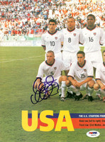 Clint Mathis Autographed Magazine Poster Team USA PSA/DNA