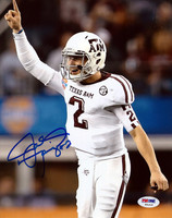 Johnny Manziel Autographed 8x10 Photo Texas A&M Aggies PSA/DNA RookieGraph Stock #74206