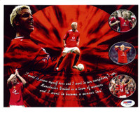 Alan Smith Autographed 8x10 Photo Manchester United PSA/DNA