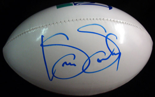 Kenny Easley Autographed White Logo Football Seattle Seahawks PSA/DNA ITP