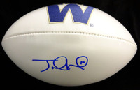 Jake Locker Autographed White Logo Football Washington Huskies PSA/DNA Stock