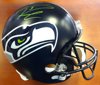 Russell Wilson Autographed Seattle Seahawks Full Size Helmet in Green