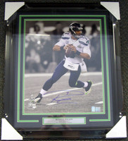 Russell Wilson Autographed Framed 16x20 Photo Seattle Seahawks Super Bowl RW Holo Stock