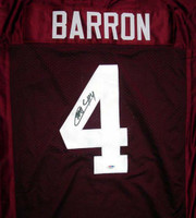 Mark Barron Autographed Alabama Crimson Tide Red Jersey PSA/DNA RookieGraph Stock