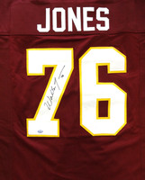 Walter Jones Autographed Florida State Seminoles Red Jersey MCS Holo Stock
