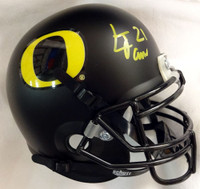 LaMichael James Autographed Oregon Ducks Matte Black Mini Helmet TriStar Stock