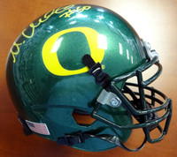 Max Unger Autographed Oregon Ducks Green Mini Helmet MCS Holo Stock