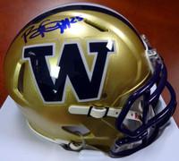 Bishop Sankey Autographed Washington Huskies Speed Mini Helmet MCS Holo Stock