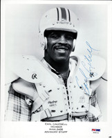 Earl Campbell Autographed 8x10 Photo Oilers PSA/DNA